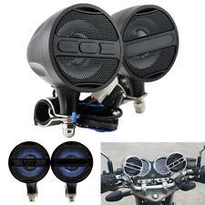 Black Metal Motorcycle Loud Speaker 12V Blueteeth Stereo Horn USB FM Waterproof
