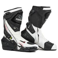 Richa Tracer Evo Motorcycle Race Sports Track Waterproof CE Boots -Black White