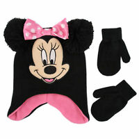 Disney Minnie Mouse Hat and Mittens Cold Weather Set, Toddler Girls, Age 2-4