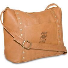 Pangea NBA Portland Trailblazers Tan Leather Woman's Mini Top Zip Handbag NEW