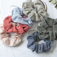 Women Chiffon Hair Scrunchies Hair Bow Hair Band Ponytail Holder Hair Ties Rope