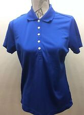 Original Nike Women Golf Shirt Blue Medium Dri Fit Sports Athletic Gatorade Logo