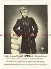Original 1938 Genuine Alaska Sealskin Coats 14 inch Paper Ad