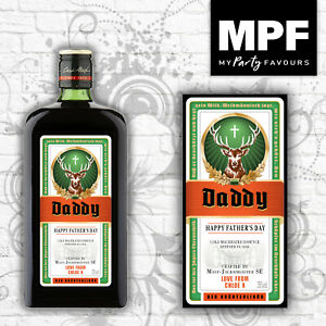 Personalised Father's Day Jager Bottle Label - All sizes - Novelty Gift!