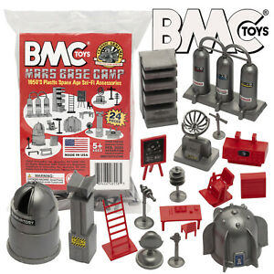 BMC Marx Cape Canaveral Space Academy Sci-Fi Furniture Silver & Red Accessories