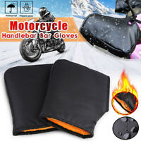 Motorcycle Motorbike Handle Bar Grip Muffs Gloves Winter Hand Warm Cover Mitts