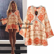 Regular Size Chiffon Floral Shirt Dresses for Women