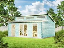 Gartenhaus Narvig-70 C Holz 70 mm Pultdach Gerätehaus Blockhaus Laube Schuppen