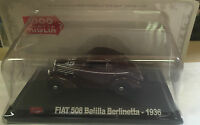 "DIE CAST 1000 MIGLIA "" FIAT 508 BALILLA BERLINETTA - 1936 "" + BOX 2 SCALA 1/43"