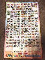Ty Beanie Baby Trading Card Poster for Series 1 & Series 2 Cards