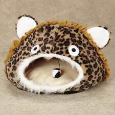 Meow Town Cat Cave Leopard Print - Brown