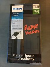 Philips LED Focus-able Projector Happy Holidays Christmas Pathway Light Red.