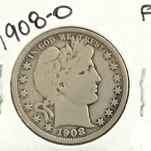 1908-O Barber Silver Half Dollar      E8672