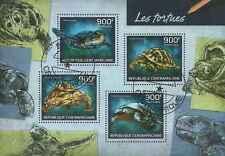 Timbres Reptiles Tortues Centrafrique 3178/81 o de 2014 lot 12266 - cote : 20 €