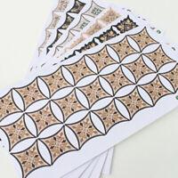 21Pcs Self Adhesive PVC Diagonal Square Tile Sticker Wall Floor Decor Trendy