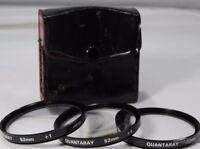 Quantaray 52mm kit +1, +2, +4 Filters close up macro set