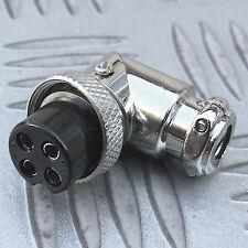 4 pines zócalo de línea de contacto múltiples en ángulo Hembra Micrófono CB Ham, etc. Con Empuñadura De Cable