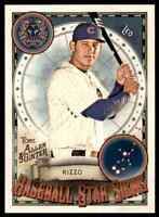 2019 TOPPS ALLEN & GINTER STAR SIGNS ANTHONY RIZZO CUBS #BSS-30 INSERT