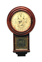 Solid Rosewood Welch Gale Drop No 3 5 Dial 6 Hand Perpetual Calendar Wall Clock