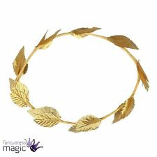 Roman Greek Goddess Gold Leaf Laurel Wreath Hat Fancy Dress Costume Headpiece