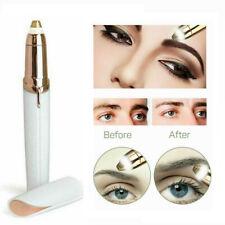 Electric Eyebrow Trimmer Epilator Painless Remover Shaper Razor Shaver -White
