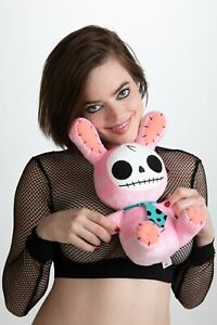 "LARGE 12"" Furrybones PINK Bunny Plush Toy Super Soft Squishy CREEPY? CUTE? 🤗"