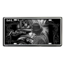 DGA David Gonzales Art Day of the Dead Reflections Low Rider Tin License Plate