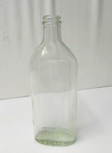 Antique Angier's Petroleum Emulsion Aqua Blown Glass Bottle w/Embossed Error