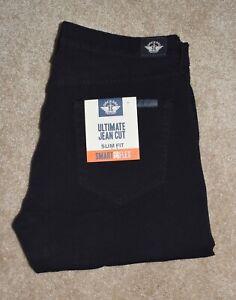 New Mens Dockers 36 X 30 Pants Black Slim Fit Jean Cut Flex Stretch Chino