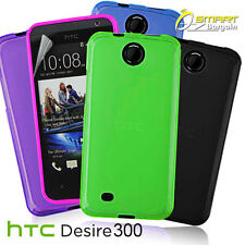 Jelly Case For HTC Desire 300 + Screen Guard TPU Skin Soft Gel Cover