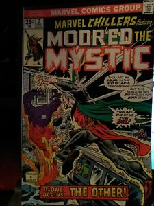 1975 Marvel Chillers 2 2nd app Modred the Mystic F-VF