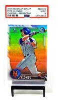 2016 Bowman Chrome REFRACTOR RC Mets PETE ALONSO Rookie Baseball Card PSA 9 MINT