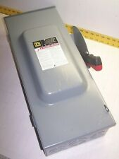 NEW SQUARE D 100 AMP NON-FUSED SAFETY SWITCH 600 VAC 100 HP 3R 3 PH 3 P HU363RB