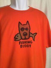 NWT Mens LIFE IS GOOD Size XL *FISHING BUDDY* Fish Rocket Dog ORANGE T-Shirt TEE