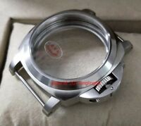 Watch parts 44MM Brushed 316L stainless steel sapphire crystal watch case