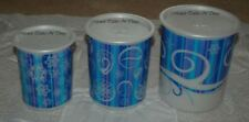 TUPPERWARE CHRISTMAS CANISTER SET OF 3 TALL BAUBLES PEARL SNOWFLAKES GIFTS