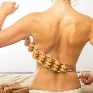 Rücken Körper Massage Massagegerät Rückenmassage Massageroller Roller Relax Holz