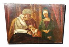 Der Jakobssegen. Antique Old Masters Copy N.Rembrandt 1656. Restoration Object