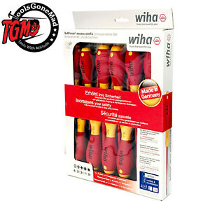 Newest Wiha 12pc SlimFix Soft Finish Screwdriver Set 1000V VDE Insulated 3201K12
