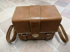 Vintage Tan Leather Vanity/ Jewellery Case Made in Italy