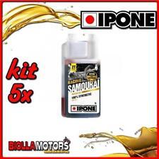 KIT 5X LITRO OLIO IPONE 2T 100% SINTETICO SAMOURAI ( 1 LITRO) - 5x IP800089