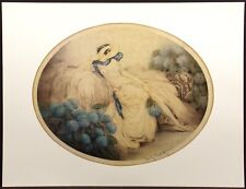 """Louis Icart """"Hortense"""" poster reproduction of vintage artwork from 1929"""