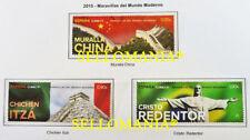 2015 MURALLA CHINA CHICHEN ITZA CRISTO REDENTOR EDIFIL 4995 / 97 ** MNH  TC20514
