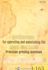 Jones & Lamson 1300 Series, Grinder Operations and Maintenance Manual