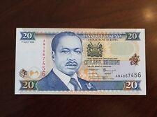 KENYA 1998 20 KSH Twenty Shillings Uncirculated Note. Daniel Arap Moi