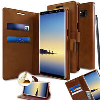 For Samsung Galaxy S10+ S9 Note 10 9 Durable Slim flip wallet leather case Cover