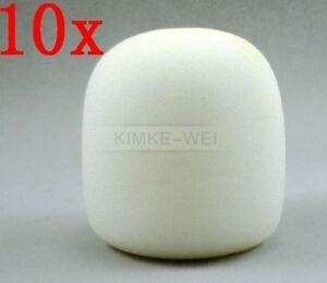 10x White Handheld Stage Microphone Windscreen Foam Mic Cover Karaoke DJ 65x40