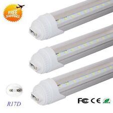 8FT 40w R17D HO Double-End Power T8 T12 LED Tube Light 6500K CLEAR LENS 10-pack