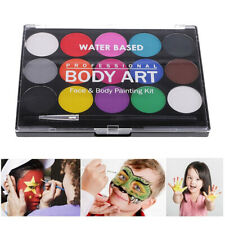 Face & Body Paint Professional Palettes Set 15 Colours Pigments Make Up Kit