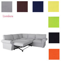 Custom Made Cover Fits IKEA EKTORP Corner Sofa Bed , Sectional Sleeper Cover